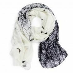 Sparrow in the woods scarf #accessories #fashion