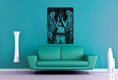 Weeping Angel  Dr Who  Vinyl  Medium by WallsOfText on Etsy, $25.95