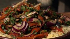 Chermoula-couscous met geroosterde paprika's - recept | 24Kitchen