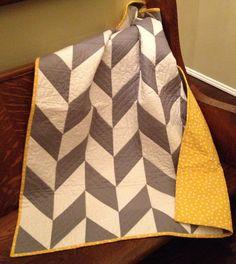 The Herringbone Quilt Pattern by KuuKuuDesigns on Etsy, $8.25