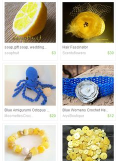 Yellow and Blue of Summer #crochet #yellow #blue