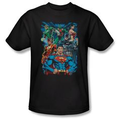 Justice League Justice Is Served Mens T-Shirt