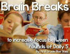 The Daily Five {Brain Breaks} Freebie