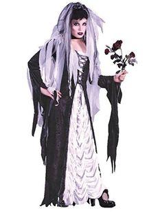 Halloween Costume Bride Darkness Adult Fun World Women Black White Gift #FunWorld #CostumeSet