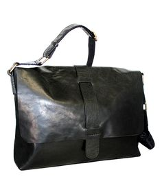 Look at this Black Sweet Jane Leather Messenger Bag on #zulily today!