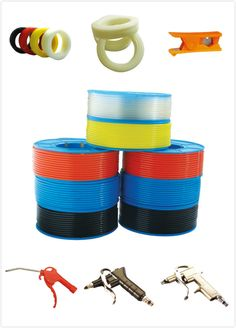 pneumatic fittings: tube, air gun, tube cutters