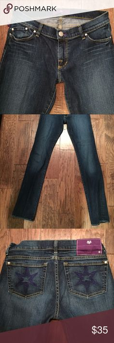 """DVB Victoria Beckham skinnies TALL Worn once - these are in perfect condition! A berry pretty mediums blue with light wiskering design on the front & blue stitching for the stars on the back pockets....please note that I am listing 2 pairs of this style name but the measurements are slightly different so please check below:  Waist 14.5 across. Inseam 34"""" rise 8"""" leg opening 7"""" Victoria Beckham Jeans Skinny"""