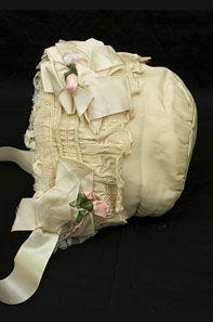 Child's Ivory Silk Bonnet, 1910