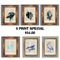 SIX PRINT SPECIAL Deal  Mix and Match Prints  by CocoPuffsArt