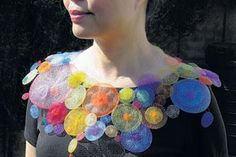 Nora Fok--fabulous UK artist.  Not in metal, but incredible art jewelry in textile techniques.