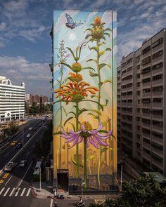 Mona Caron brengt de natuur naar de stad