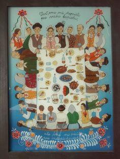 Zuzana Vaňousová - Slovakia Advent Calendar, Paintings, Holiday Decor, Glass, Frame, Fun, Home Decor, Nun, Board