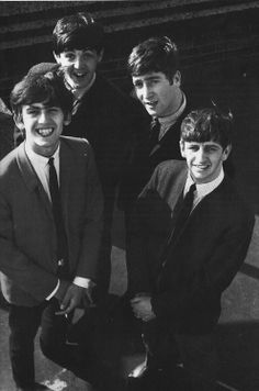 George Harrison, Paul McCartney, John Lennon, and Richard Starkey (Young lads)