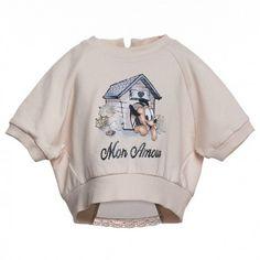 FELPA BIMBA MONNALISA BEBÈ Felpa bimba Monnalisa corta con taglio a pipistrello in tessuto felpato di colore bianco con maniche lunghe raglan e apertura sul retro con applicazione in popeline arricchita da un fiocco a pois. Felpa Monnalisa Bebè che metterà in risalto ogni look. #monnalisa #monnalisabebè #baby #bebè #kids #junior  #neonata #bimba #bambina #girl #newborn #infant #shopping #fashion #moda #abbigliamento #vestiti
