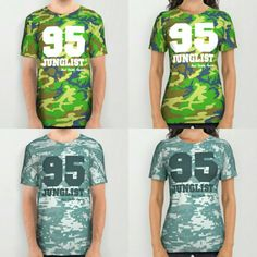 95 #Junglist All Over T-shirts on #Society6! FREE SHIPPING WORLDWIDE UNTIL JANUARY 10th https://society6.com/product/95-junglist-camo_all-over-print-shirt#57=422