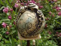 Kugel Windspiel Keramik Unikat Gartendeko Balkon