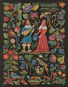 Herta Koch. Troubadour embroidery design, 1913.
