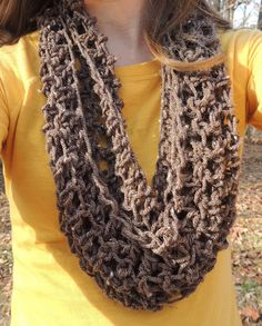 Loosely woven infinity scarf