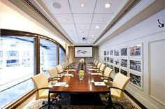 Murray Hill - Designed by David Rockwell the Murray Hill Meeting room features a permanent board room table that accommodates up to 12 guests and boasts a great view of Madison Avenue.