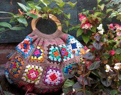 Eindelijk af: granny square tas