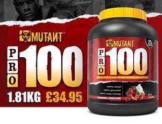 Up today on our monthly offers  @mutantnation Pro 100 2kg for only 34.95! Available in flavours  Birthday cake  Choc Vanilla Banana  Choc peanut  #EducateAndDominate  #bodybuilding #prep #dedicated #movingforward #nevergiveup #NothingButTheBest #dominate #veins #muscle #tnutrition #nutrition #diet #training #sacrifice #practicewhatyoupreach #muscle #supplements #believe #faith #goals #fitfam #ukfitfam #prosupps #dedicated  #fitfam #supplements #abs #instagood #instadaily #instalike…