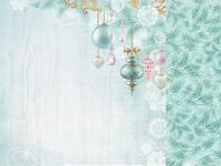 Christmas Wishes 12x12 Scrapbook Paper - Bauble Garland
