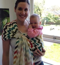 Ring sling: looks super simple and awesome