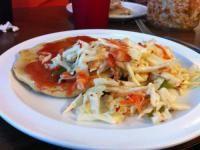 Curtido Recipe (Salvadoran cabbage salad) | El Salvador | Whats4Eats;    Curtido,  Green Stuff,  Pork Tamales,  Avocado Salad,  Tres Leches Cake