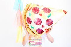 Pizza mylar balloon