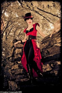 #Steampunk outfit, made and modeled by Tangofortwo.