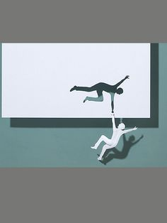 wall sculpture crafted from a single piece of paper