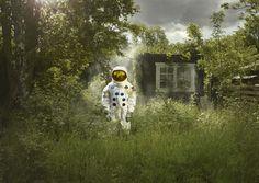 "Love this. ""Crash Landed"" by Ken Hermann, Art Direction by Gemma Fletcher - via Behance"