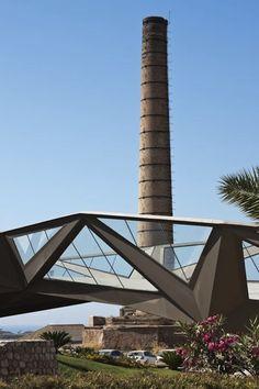 Passarela em Motril - Gijón Arquitectura e Vicente Guallart | Motri, Espanha - 2011 [Aço, Vidro]
