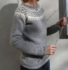 Icelandic sweater, but knitted with Drops Lima