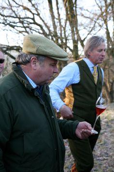 In between drives , JWB in bespoke Rhodes-Wood shooting suit, at Betwys Hall Wales