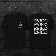 Yeezus Tour T Shirt I File Like Pablo Kanye West Yeezy Yeezus Tour Merchandise