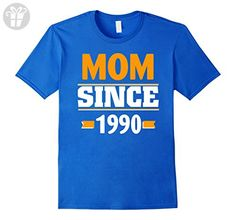 Mens funny mom shirt Mom since 1990 Medium Royal Blue - Funny shirts (*Amazon Partner-Link)
