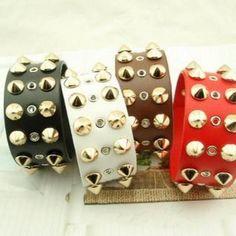 Studded Bracelet Beaded Jewelry, Silver Jewelry, Holiday Decor, Bracelets, Pearl Jewelry, Silver Jewellery, Bracelet, Arm Bracelets, Bangle