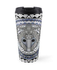 Aztec Future Robot Pencils sketch Art Travel Mugs #mugs #travelmugs #aztec #dartvader #dartmaul #stormtrooper #r2d2 #falcon #cyberman
