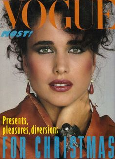 Andie MacDowell  -  Vogue UK 1982