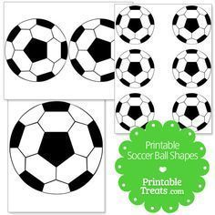 Free printable soccer ball shapes for the soccer lover. These printable soccer ball shapes have hexagons that are filled in black to give it the classic soccer ball look. Soccer Treats, Soccer Snacks, Team Snacks, Soccer Locker, Soccer Boys, Soccer Stuff, Soccer Birthday Parties, Soccer Party, Sports Party