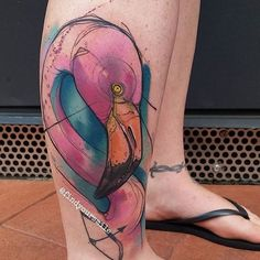 """""""☀️ @findyoursmile ☀️ #perfecttattoo #perfectartist #flamingo #flamingotattoo #watercolor #watcolourart #watercolortattoo #watercolourtattoo #colourtattoo #colortattoo #hartandhuntington #tattoo #tattooed"""" Photo taken by @perfecttattooartists on Instagram, pinned via the InstaPin iOS App! http://www.instapinapp.com (09/26/2015)"""