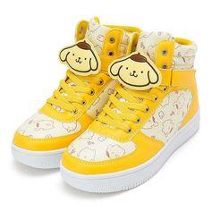 Sanrio store Pomupomu pudding character clip with high-cut sneakers plush kawaii 2016 NEW Hello kitty Japan Import Harajuku Fashion, Kawaii Fashion, Cute Fashion, Fashion Shoes, Sock Shoes, Cute Shoes, Me Too Shoes, Kawaii Shoes, Kawaii Clothes