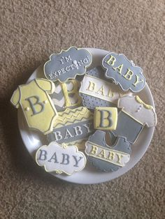 Baby Cookies / Love the font & rattle