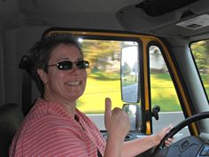 Sue Reeg, OCM Client Operations Manager (COM), truckin' to the Brown linen onsite!
