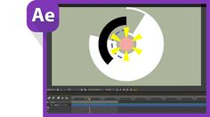After effect motion graphics for sweeping circles like AE sweets