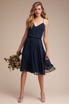 Navy Sienna Dress | BHLDN