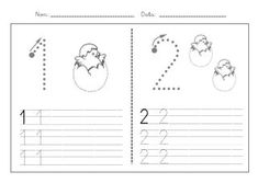 Fitxes caligrafia numeros 1 9 Preschool Number Worksheets, Preschool Writing, Numbers Preschool, Kindergarten Math, Classroom Crafts, Classroom Themes, Math For Kids, Activities For Kids, Conflict Resolution Activities