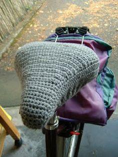 Fahrradsattelbezug häkeln