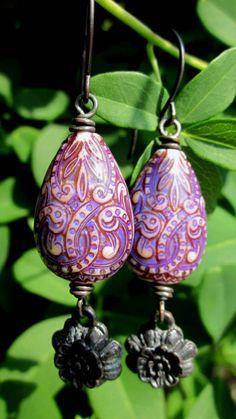 Mood bead earrings